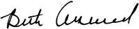 Beth Arrowood Signature